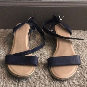 Old Navy Navy Blue Sandals with Low Heel